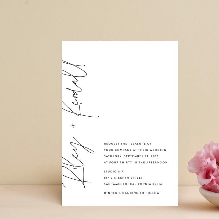 """printed"" - Wedding Invitation Petite Cards in Onyx by JoAnn Jinks."