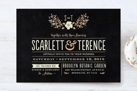 Jardin nocturne wedding invitation petite cards minted for Jardin nocturne