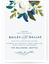 This is a blue petite wedding invitation by AK Graphics called Our Something Blue with standard printing on signature in petite.