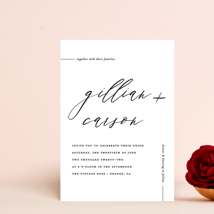 """Villa"" - Wedding Invitation Petite Cards in Pearl by Chryssi Tsoupanarias."