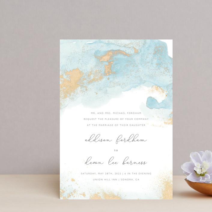 """My tenderness"" - Bohemian Wedding Invitation Petite Cards in Topaz by Helen Halik."