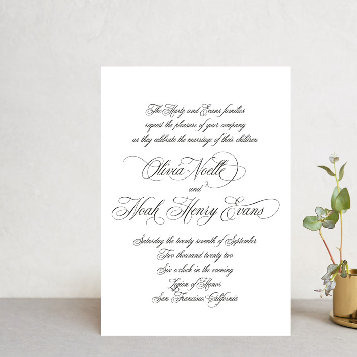 """Legacy"" - Wedding Invitation Petite Cards in Pure by Design Lotus."