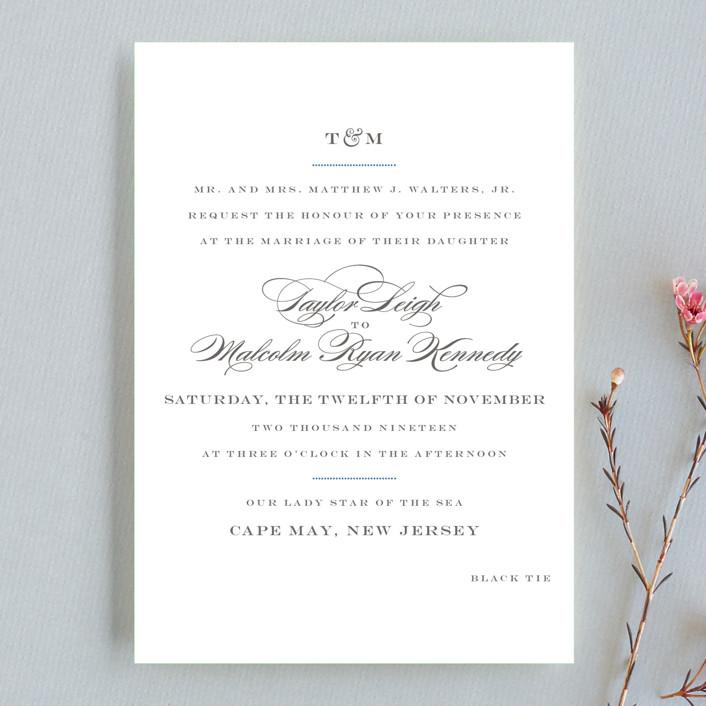 """Charming Go Lightly"" - Wedding Invitation Petite Cards in Sky Blue by danielleb."