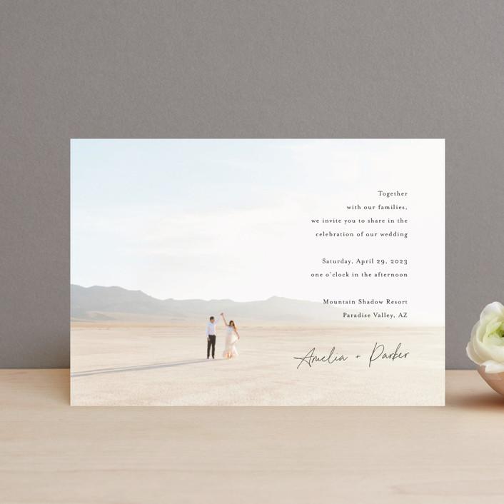 """Handwritten"" - Wedding Invitation Petite Cards in Obsidian by Jennifer Postorino."