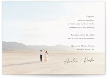 This is a black petite wedding invitation by Jennifer Postorino called Handwritten with standard printing on signature in petite.