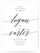 This is a black and white petite wedding invitation by Design Lotus called Someone Like You with standard printing on signature in petite.