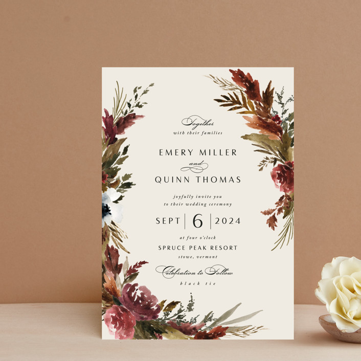"""""""poetique"""" - Wedding Invitation Petite Cards in Autumn by Kate Ahn."""