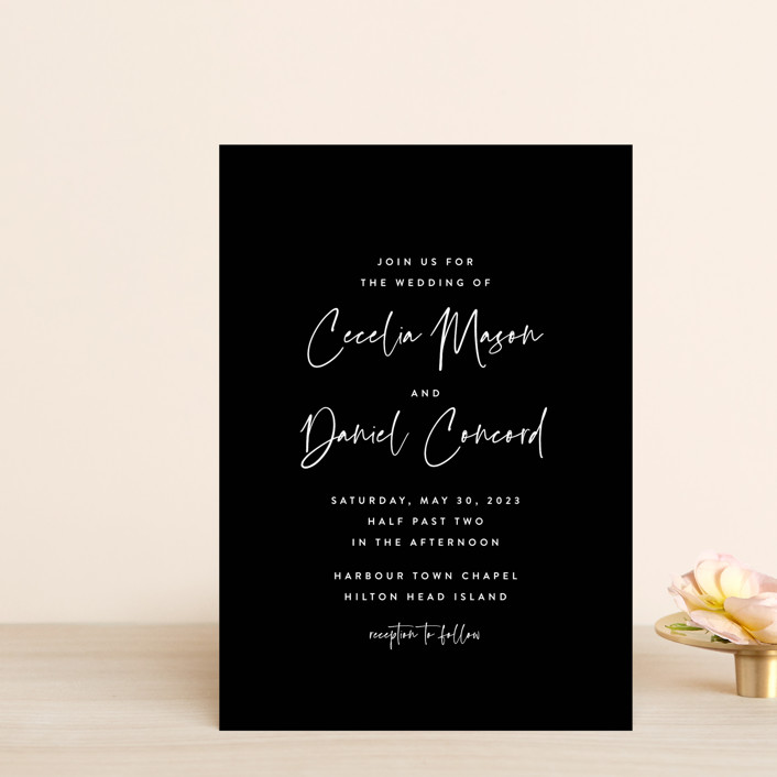 """""""In this together"""" - Wedding Invitation Petite Cards in Black Tie by Lea Delaveris."""