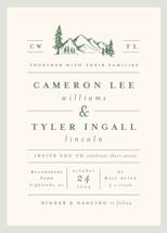 Blue Ridge Wedding Invitation Petite Cards