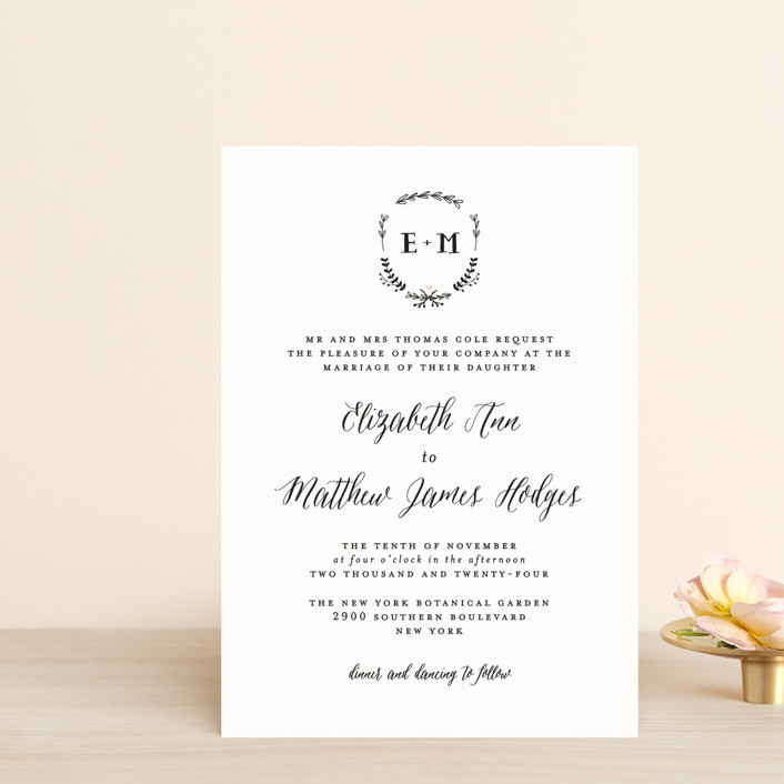 """""""Always"""" - Wedding Invitation Petite Cards in Blush by Susan Brown."""