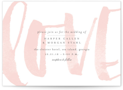 photo of Bare Love Wedding Invitation Petite Cards
