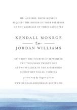 Watercolour Stripe Wedding Invitation Petite Cards