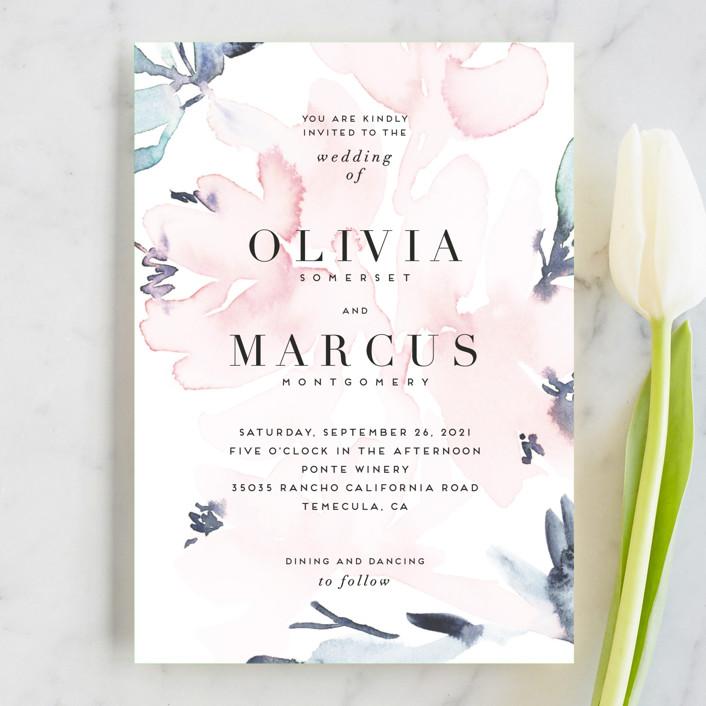 """""""Florista Modernista"""" - Wedding Invitation Petite Cards in Azalea by Petra Kern."""