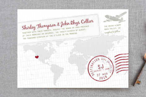 A Faraway Destination Wedding Invitation Petite Cards