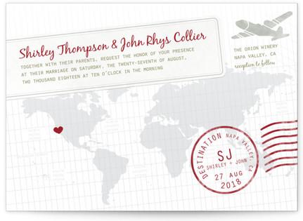 A Faraway Destination Wedding Invitation Petite Cards