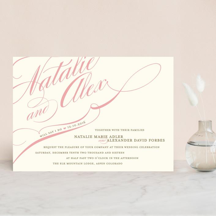 Winter Flourish Wedding Invitation Petite Cards by annie clark | Minted