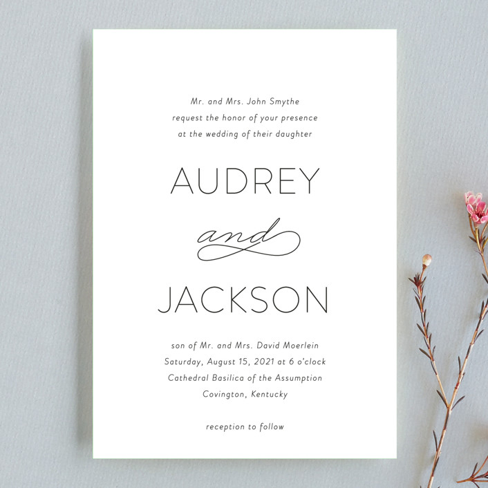 """""""Forever And"""" - Wedding Invitation Petite Cards in Black Tie by Kim Dietrich Elam."""