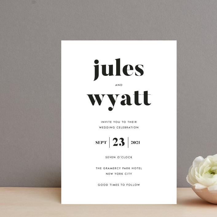 """Nolita"" - Wedding Invitation Petite Cards in Silk by annie clark."