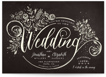 The Wedding Bouquet Wedding Invitation Petite Cards