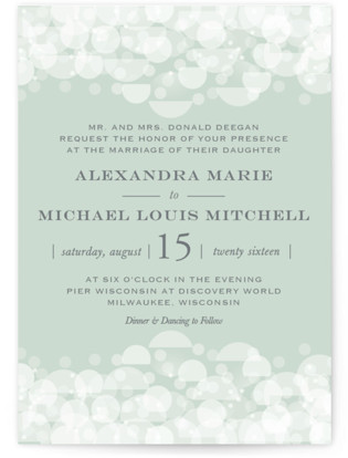 Twinkling Lights Wedding Invitation Petite Cards