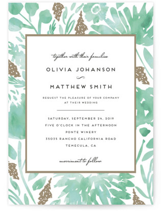 Watercolor Delight Wedding Invitation Petite Cards