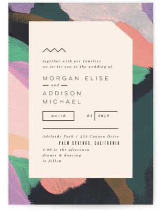 Adagio Wedding Invitation Petite Cards