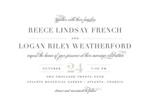 Classical Wedding Invitation Petite Cards