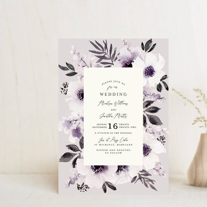 """Nantucket Romance"" - Wedding Invitation Petite Cards in Marine by Chris Griffith."