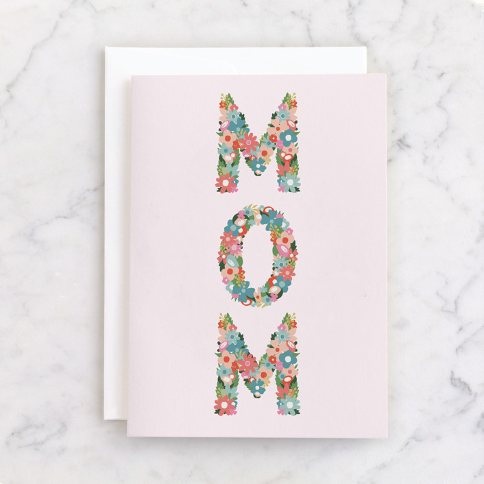 """""""Mom!"""" - Individual Mother's Day Greeting Cards in Petal by Ashley DeMeyere."""