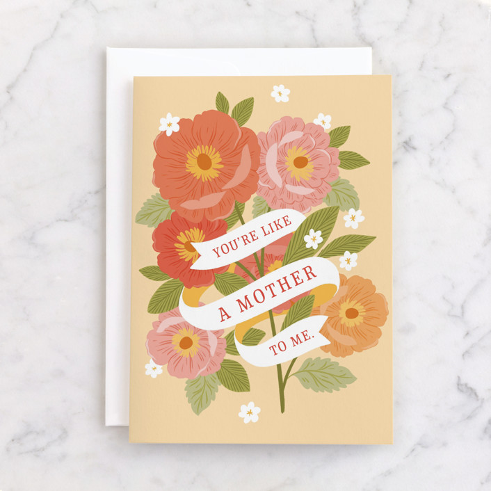 """LIKE A MOTHER"" - Individual Mother's Day Greeting Cards in Sun by Paper Raven Co.."