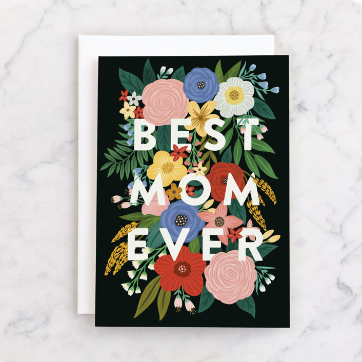 """""""Vibrant"""" - Individual Mother's Day Greeting Cards in Floral by Yaling Hou Suzuki."""