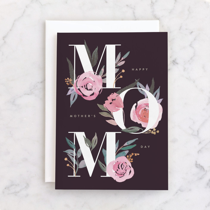 """""""Mom type"""" - Individual Mother's Day Greeting Cards in Dusk by Creo Study."""
