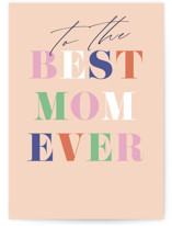 This is a orange mothers day card by Pixel and Hank called To the Best Mom with standard printing on signature in greeting cards.
