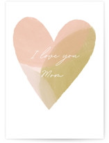This is a pink mothers day card by Stacey Meacham called Painted Heart with standard printing on signature in greeting cards.