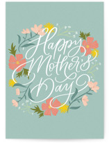 This is a green mothers day card by Erin German called Floral Sentiment with standard printing on signature in greeting cards.
