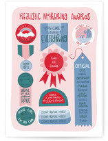 This is a pink mothers day card by Liz Taylor Creative called Realistic Mothering Awards with standard printing on signature in greeting cards.