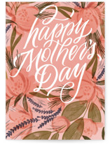 This is a pink mothers day card by Erin L. Wilson called fresh bouquet with standard printing on signature in greeting cards.