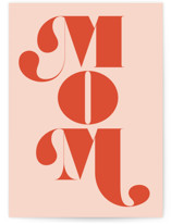 This is a pink mothers day card by Lori Wemple called mom... with standard printing on signature in greeting cards.