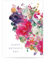 This is a colorful mothers day card by Lori Wemple called Floral with standard printing on signature in greeting cards.