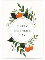 This is a orange mothers day card by Susan Moyal called Orange Blossoms with standard printing on signature in greeting cards.