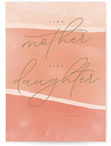 This is a orange mothers day card by Robert and Stella called Just Like Mom with standard printing on signature in greeting cards.