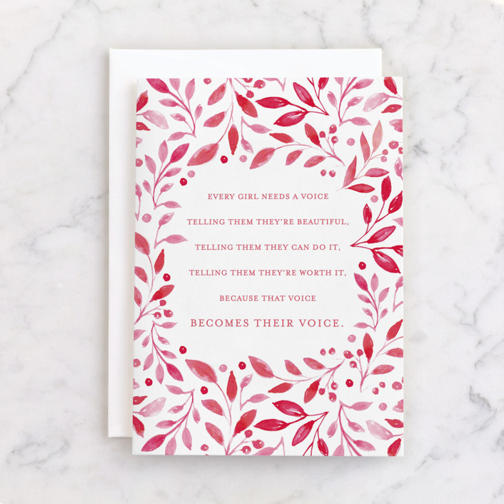 """""""A voice"""" - Individual Mother's Day Greeting Cards in Rose by Mansi Verma."""