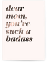This is a beige mothers day card by Christie Garcia called Dear Mom with standard printing on signature in greeting cards.