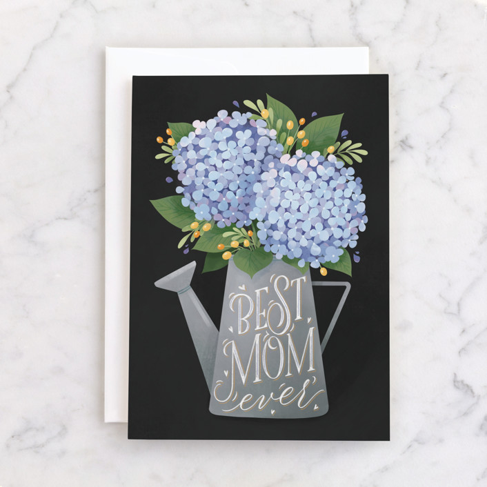 """""""Hydrangea Bouquet"""" - Individual Mother's Day Greeting Cards in Hydrange by Shannon Chen."""