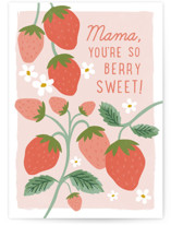 This is a pink mothers day card by Karidy Walker called berry sweet mama with standard printing on signature in greeting cards.