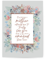 This is a grey mothers day card by Corie Page called Amazing Mom with standard printing on signature in greeting cards.