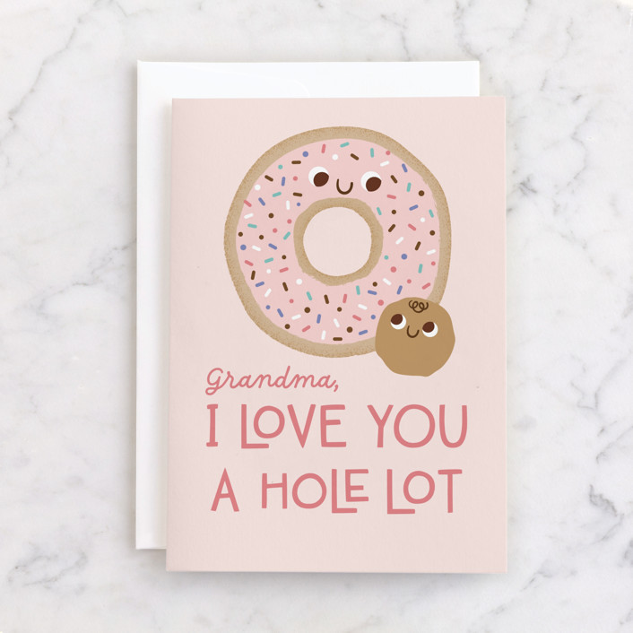 """""""donuts"""" - Individual Mother's Day Greeting Cards in Blush by Annie Holmquist."""