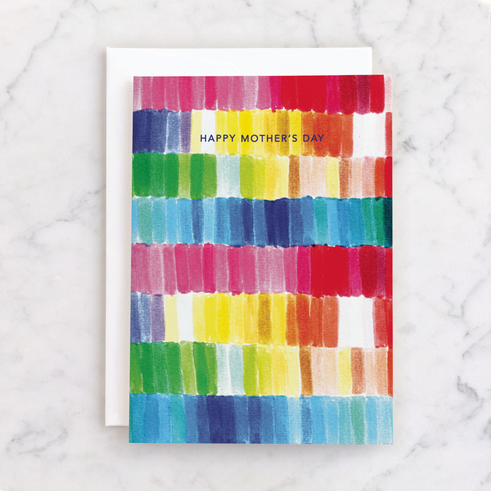 """""""Colorful"""" - Individual Mother's Day Greeting Cards in Rainbow by Caitlin Considine."""