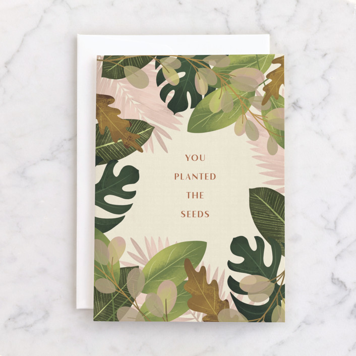 """""""Planted the Seeds"""" - Individual Mother's Day Greeting Cards in Leaf by Erin German."""