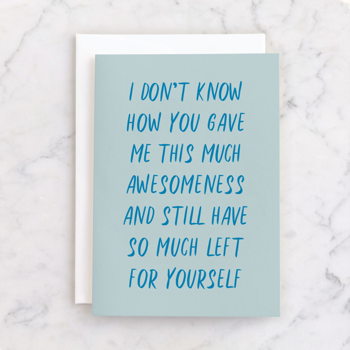 """""""awesomeness"""" - Individual Mother's Day Greeting Cards in Sapphire by JoAnn Jinks."""